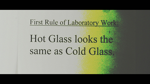 First Rule of Laboratory Work