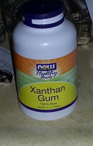 bottle of xanthan gum