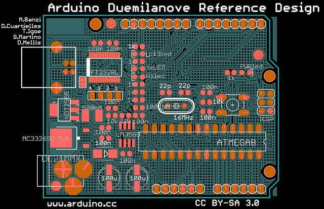 an X-ray of my Arduino board