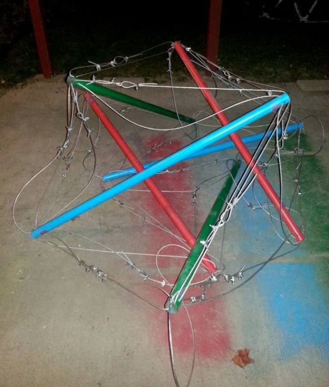 partially assembled icosahedron