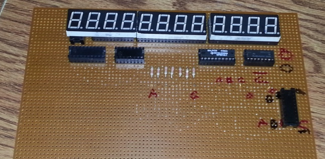 Circuit board with 12 digits