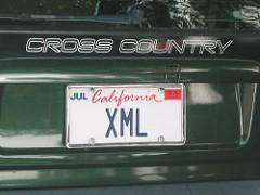XML license plate