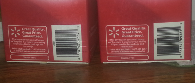 two red cartons of soy milk with their bar codes