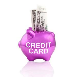 "A Piggy Bank Labelled ""Credit Card"""
